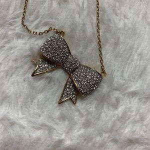 Juicy Couture Pave Silver Bow necklace!!!